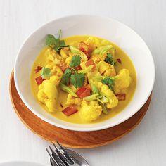 Blumenkohl-Curry mit Ingwer und Koriander