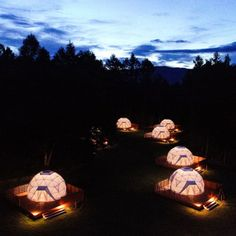 Bubble Tent, Chalet Design, Futuristic Home, Dome House, Best Credit Cards, Geodesic Dome, Landscape Lighting, Campsite, Glamping