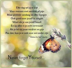 Vergeet nooit jezelf