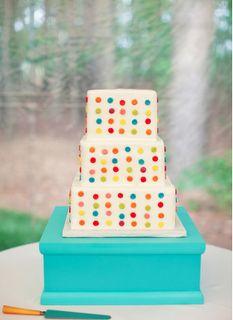 colorful modern wedding cake