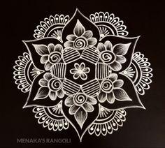 Indian Rangoli Designs, Simple Rangoli Designs Images, Rangoli Designs Latest, Rangoli Designs Flower, Rangoli Border Designs, Rangoli Patterns, Rangoli Ideas, Rangoli Designs With Dots, Beautiful Rangoli Designs