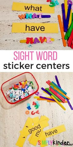 Sight Word Center fo