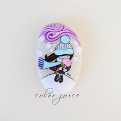 Ice Cream  Painted stone by ColorJuice on Etsy, $33.00