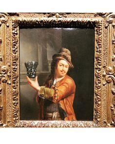 """The Toper"" (toper means ""drunkard"") by Dutch painter Jan van Mieris, painted an astonishing 340 years ago - #WineWednesday #art #OldMasters"