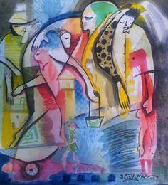 Pintura de João Timane, artista plástico Moçambicano.