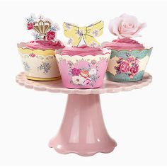 Cup Cake Toppers & Wraps Vintage Garden Tea Party Baby Shower Hen Party