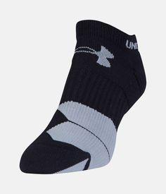 Women's UA Run Cushion Tab No Show Sock, Black , zoomed image