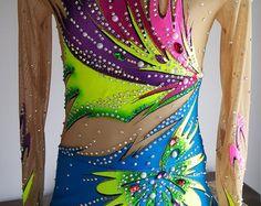 Competition Rhythmic Gymnastics Leotard by TaniaRGLeotards on Etsy