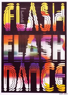 Movie Poster - Flashdance, by Zdeněk Ziegler, 1987. Made in Czechoslovakia. / #VintagePosters #MoviePosters