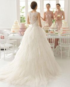 White Ivory Lace Wedding Dress Bridal Gown Custom Size 6 8 10 12 14 16 18