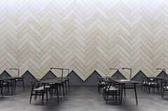 BAUX, the brand started by Form Us With Love, has designed a new acoustic tile that was inspired by wood, parquet, and bricklaying on DesignMilk Plank, Acoustic Wall Panels, Sound Proofing, Interior Walls, Wall Design, Decoration, Woodworking Projects, Woodworking Quotes, Woodworking Store