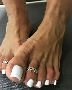 Pin on Sexy feet Toe Nails White, Pretty Toe Nails, Cute Toe Nails, Pretty Toes, Gold Nails, Hot Pink Toes, Duck Feet Nails, Long Toenails, Nice Toes