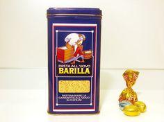 Tin box Barilla  pasta Barilla  80s by RetroGustoMenta on Etsy, €15.00