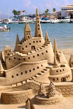 What a great design on this sand castle! #sandcastle #travel #sandsculpture