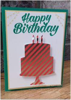Alternate card idea using the Birthday Bright Project Kit from Stampin' Up! www.midmostamping.com