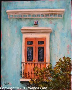 Colonial Facade II San Juan , Puerto Rico 8x10, oil on canvas -original oil painting- SOLD, Others Available@ https://www.etsy.com/shop/ArteWandaCaro