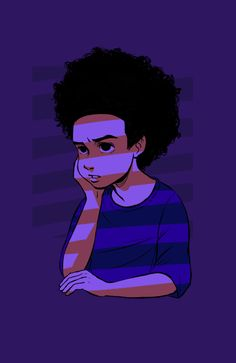 Like we sad dude Dope Cartoons, Dope Cartoon Art, Cartoon Art Styles, Boondocks Drawings, Arte Peculiar, Black Cartoon Characters, Trill Art, Black Art Pictures, Vintage Cartoon