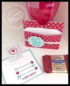 Sweetheart Treat Bags converted to treat & card holder - www.SimplySimpleStamping.com