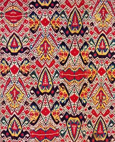 Central Asian Ikats from the Rau Collection | V Bukhara Uzbekistan 1800-1825 Silk and Cotton
