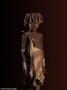 Mursi child.  Omo Valley, Ethiopia.