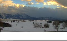 Bild unserer Webcam. Blick auf den Forggensee und die Allgäuer Berge