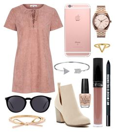 """BTS 16"" by musicpandas ❤ liked on Polyvore featuring Chase & Chloe, Glamorous, Bare Escentuals, Nixon, ChloBo, Yves Saint Laurent, Bling Jewelry and OPI"