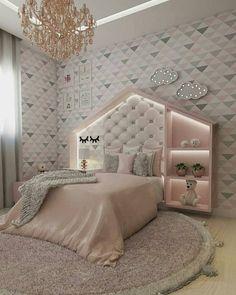 65 beautiful baby girl nursery room ideas 22 ~ Design And Decoration - Baby room Kids Bedroom Designs, Cute Bedroom Ideas, Cute Room Decor, Room Ideas Bedroom, Kids Room Design, Baby Room Decor, Girls Bedroom, Bedroom Decor, Nursery Room
