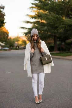 Winter Whites | winter style | winter fashion | styling for fall and winter | cold weather fashion | style ideas for winter | fashion tips for winter || The Girl in the Yellow Dress