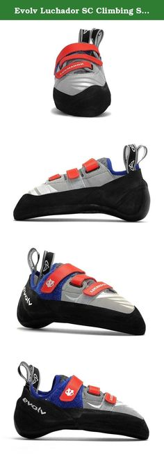 Evolv Luchador SC Climbing Shoe - Men's Grey/Silver 4. New to the technical all-around category is a strap closure rock shoe Evolv calls the Luchador SC. Inspired by the inner wrestler in all of us who battle the medium of rock, it is built off a slightly cambered last with a semi-asymmetrical toe profile that allows for great control on small edges as well as thin cracks. Its new non-shifting tongue system also offers a sock-like fit.