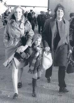 Linda Eastman-McCartney, Paul McCartney, and Heather (1969)