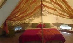 Bell Tent Interior & IBIZA; Bell Tent Ibiza... for app. 450 per week stay in a cool ...