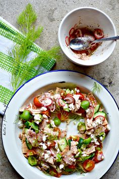 Greek Salad Nachos for One
