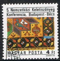 [CF7459] Hungría 1986, Conferencia Internacional de Alfombras Orientales (CTO) Stamps, Ebay, Oriental Rugs, Seals, Postage Stamps, Stamp