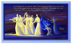 """Matthew 25:6–8...""""Then all the virgins woke up."""""""