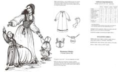 Medieval Renaissance Maiden Pattern