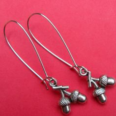 TINY ACORNS earrings on French wires. $7.00. Love these for gifts! :)