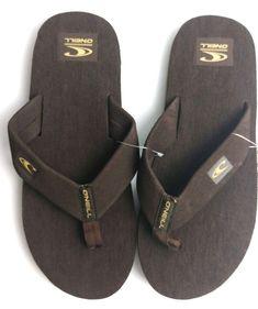 4943b42f07d67 O Neill Mens Phluff Daddy Thong Sandals Flip Flops Brown Size 10  ONeill