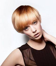 Short Blonde straight coloured multi-tonal womens haircut hairstyles for women