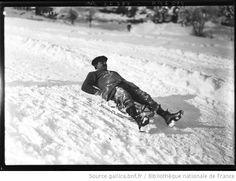 Sports d'hiver, Magnus [descente en luge, Chamonix, 1-13] : [photographie de presse] / [Agence Rol] - 1
