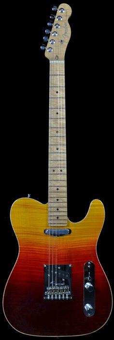 Wild West Guitars : Fender Americian Design Telecaster Sunset Burst 19 of 35