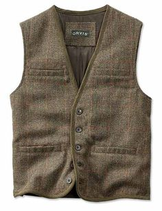 Just found this Wool Tweed Vest For Men - Windowpane Tic Weave Vest -- Orvis on Orvis.com!
