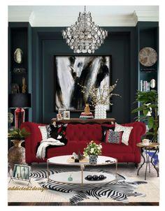 I'm Just Confessing🎶🔂🎤 Decor, Red Living Room Decor, Luxury Living Room, Living Room Designs, Bedroom Decor, House Interior, Room Decor, Apartment Decor, Home Deco