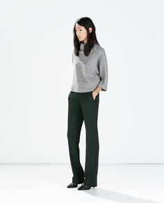 ZARA - NEW THIS WEEK - STRAIGHT TROUSERS WITH POCKETS AND WAISTBAND