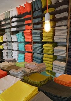 Thank you and his collection of linen linen - Poc a poc, textile creations -