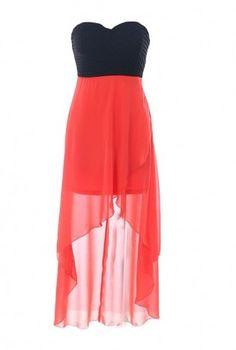 Sweetheart High-Low Dress,  Dress, Strapless Dress, Chic