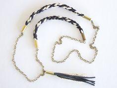 braided tassel necklace