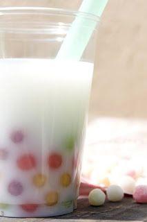 The Toddler Café ™: Bouncing Boba Bubble Drink! Refreshing Drinks, Yummy Drinks, Bubble Drink, Boba Pearls, Boba Drink, Rainbow Bubbles, Tapioca Pearls, Milk Tea, Frozen Treats