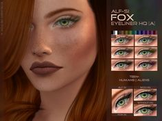 - teen + ;  Found in TSR Category 'Sims 4 Female Eyeliner'