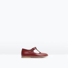 Image 1 of LEATHER BALLERINAS from Zara