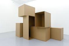Bettina Buck Plinth Drawings 2012 Cardboard, gum strip tape